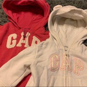 GAP girls hooded zip up 3-6mo